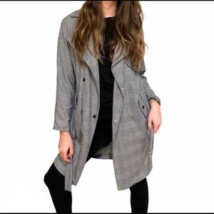 NWT Topshop Prince of Wales Check Trench Coat, 2